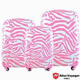 【法國 奧莉薇閣】粉紅派對PC輕量鏡面三件組登機/行李箱