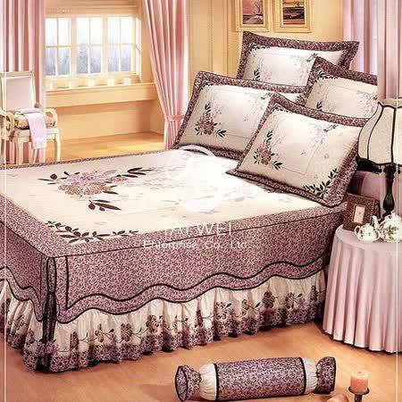 莎萱【典雅迷情】雙人純棉七件式床罩組#22