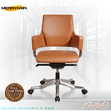 【Merryfair】DELPHI摩登優雅(全牛皮)低背辦公椅-棕