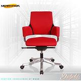【Merryfair】DELPHI摩登優雅(OA布)低背辦公椅-正紅色黑框