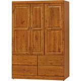 日式量販-玉桂防蛀4X6實木衣櫃