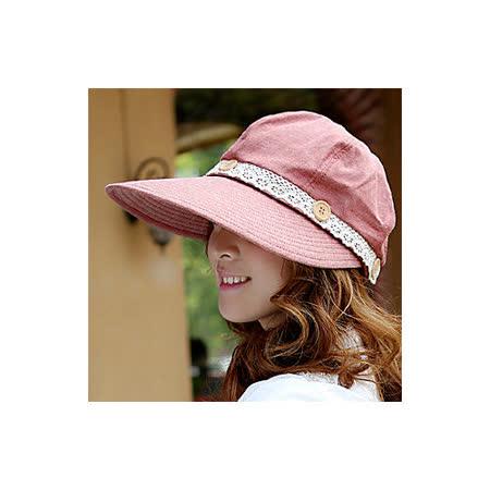 【OUTBOUND】韓版女用夏日可拆式鈕扣兩用遮陽帽/防曬帽(6色可選)