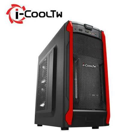 i-COOLTW 無極鬥士 Q6 黑紅色 電腦機殼
