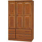 日式量販-柚色防蛀4X7實木衣櫃