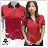 【SPAR-涼夏熱銷】女款 短袖POLO衫.吸濕.排汗衣/紅 1030101 B