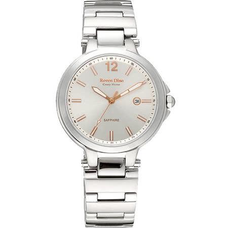 Roven Dino羅梵迪諾 與你相約時尚腕錶(銀X玫瑰金-大/40mm) RD6048S-258