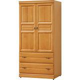 日式量販-檜色古典3X6實木衣櫃