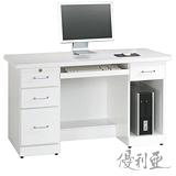 【優利亞-羅絲純白】4.2尺電腦桌