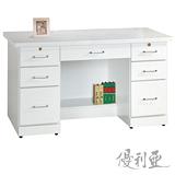 【優利亞-羅絲純白】4.2尺書桌