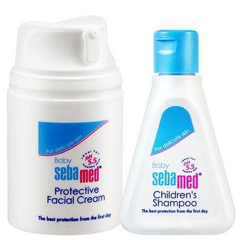 Sebamed施巴5.5 嬰兒全效柔護面霜50ml (加贈嬰兒洗髮精50ml)