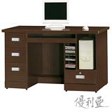 【優利亞-米奇多功能】4.2尺電腦桌(2色)
