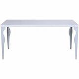 【空間生活】羅斯倫餐桌120(白)