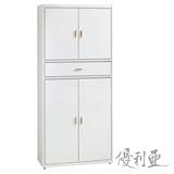 【優利亞-新月純白】2.7尺高鞋櫃