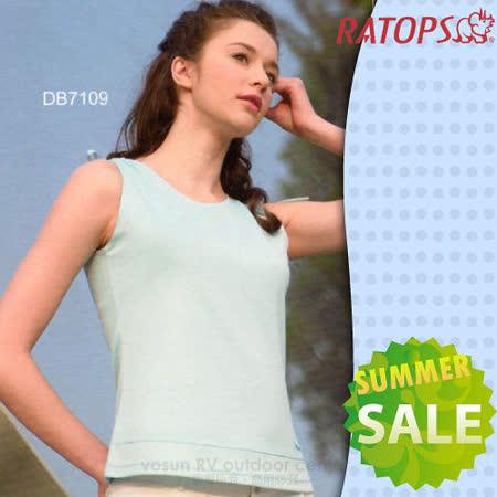 【RATOPS-涼夏熱銷】女款 圓領無袖排汗背心.休閒衫.排汗衣 / DB7109 淺水藍