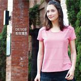 【RATOPS-涼夏熱銷】女U領肩縐摺 COOLMAX FX鱗片布系列短袖T恤.排汗衫/DB7809