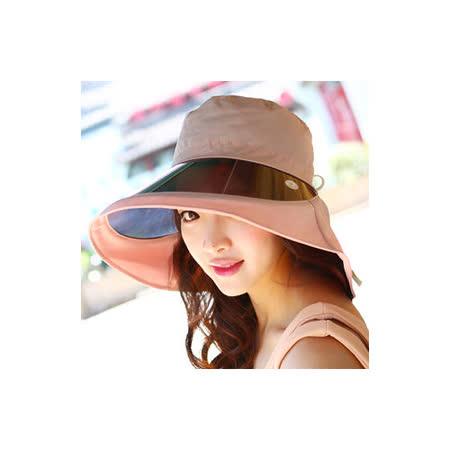 【OUTBOUND】日韓系女用酷夏防潑水鏡片防曬遮陽帽/沙灘帽(4色可選)