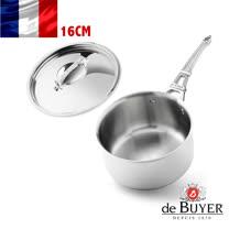 法國【de Buyer】畢耶鍋具『藍嶽系列』單柄調理鍋16cm(含蓋)