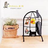 日系貓造型飾品鑰匙架(時尚黑)