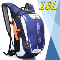 【LOCAL LION】18L 超輕大容量防潑水背包.自行車背包.路跑跑步背包/464 藍