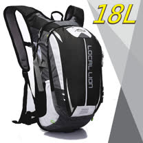 【LOCAL LION】18L 超輕大容量防潑水背包.自行車背包.路跑跑步背包/464 黑