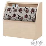 【優利亞-白橡玫瑰】單人3.5尺床頭箱