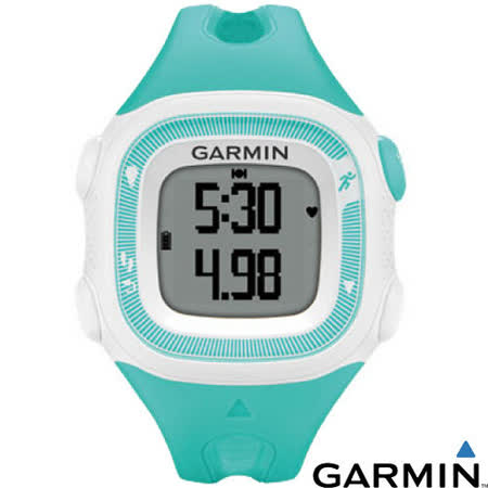 【GARMIN】Forerunner 15 三合一運動健身跑錶.運動錶.健身手環(適合女性及兒童佩戴)/水鴨綠白色