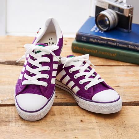 中國強 MIT 經典休閒帆布鞋CH89(紫色)女鞋