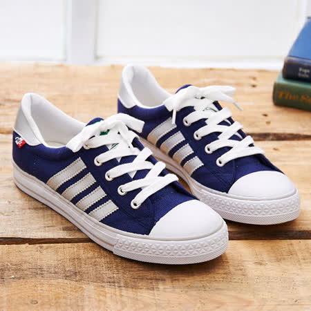 中國強 MIT 經典休閒帆布鞋CH89(藍銀)男鞋