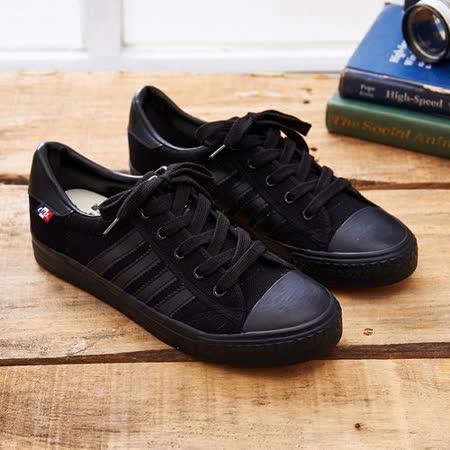 中國強 MIT 經典休閒帆布鞋CH89(黑色)女鞋