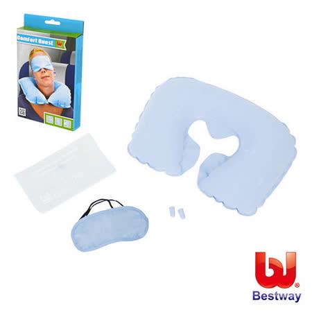 (購物車)《購犀利》美國品牌【Bestway】充氣旅行組(充氣枕、眼罩、耳塞)