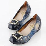 【T2R】超質感炫麗方飾 時尚款。藍色↑6cm 5870-0102