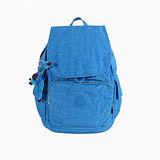 【Kipling】BASIC系列 前方口袋蓋式後背包 海藍 K-374-2147-524