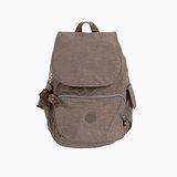 【Kipling】BASIC系列 前方口袋蓋式後背包 淺咖啡 K-374-2147-740
