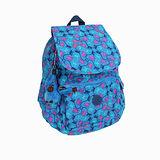 【Kipling】BASIC系列 前方口袋蓋式後背包 藍色派對 K-374-2147-041