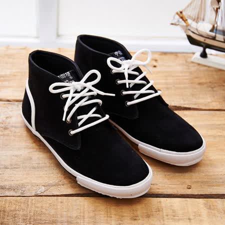 中國強 MIT 質感絨布皮休閒鞋CH102(黑色)男鞋
