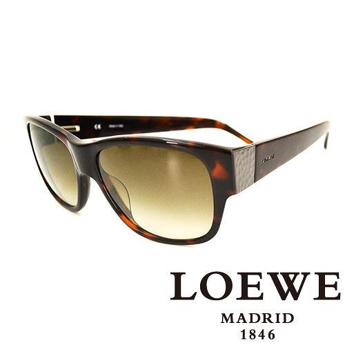 LOEWE 西班牙皇室品牌羅威素面貴氣太陽眼鏡^(琥珀^) SLW693~09XK