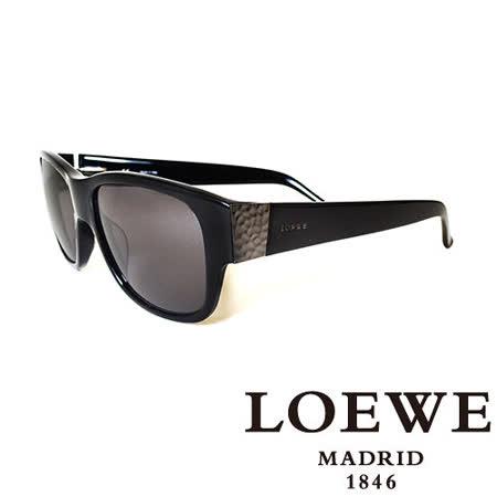 LOEWE 西班牙皇室品牌羅威素面貴氣太陽眼鏡(黑) SLW693-0700