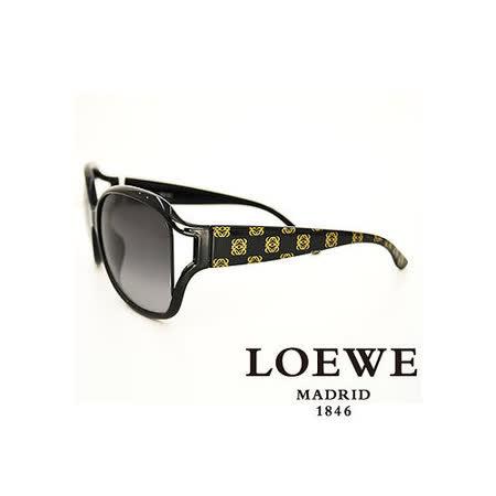 LOEWE 西班牙皇室品牌羅威經典LOGO太陽眼鏡(黑) SLW705-0Z42