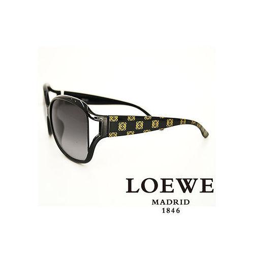 LOEWE 西班牙皇室品牌羅威 LOGO太陽眼鏡^(黑^) SLW705~0Z42