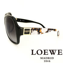 LOEWE 西班牙皇室品牌羅威皇家花紋太陽眼鏡(黑) SLW728-700X