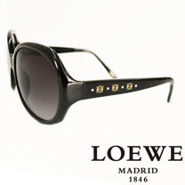 LOEWE 西班牙皇室品牌羅威經典3LOGO太陽眼鏡(黑) SLW741-0700