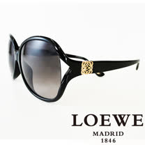 LOEWE 西班牙皇室品牌羅威經典立體LOGO太陽眼鏡(黑) SLW742-0700