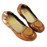 【T2R】超人氣心機增高娃娃鞋~愛心鑽石 ↑6cm〈金色〉 5870-0026