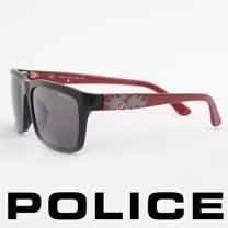 POLICE 義大利警察都會款個性型男眼鏡-膠框(紅色) POS1883-700P