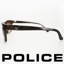 POLICE 義大利警察都會款個性型男眼鏡-膠框(琥珀) POS1883-0958
