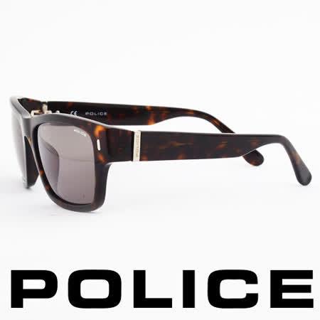 POLICE 義大利警察都會款個性型男眼鏡-膠框(豹紋) POS1885-0722