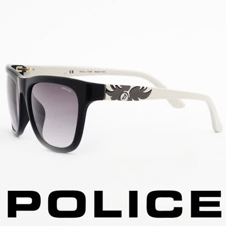 POLICE 義大利警察都會款個性型男眼鏡-膠框(白色) POS1895-0700