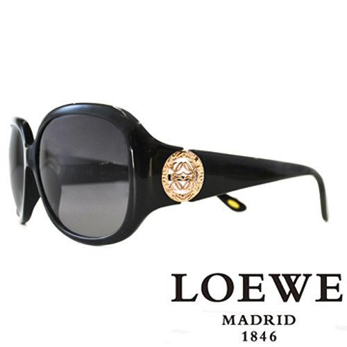 LOEWE 西班牙皇室品牌羅威 立體LOGO太陽眼鏡^(咖啡^) SLW744~0700