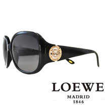 LOEWE 西班牙皇室品牌羅威經典立體LOGO太陽眼鏡(咖啡) SLW744-0700