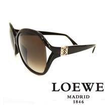 LOEWE 西班牙皇室品牌羅威經典立體LOGO太陽眼鏡(咖啡) SLW742-0958